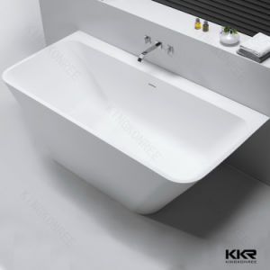 Kingkonree Solid Surface Oval Stone Bath Tub pictures & photos