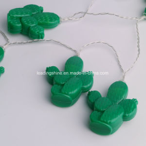 Novelty Green Cactus Shape Led String Lights String Lights Christmas Outdoor Mini Night Light