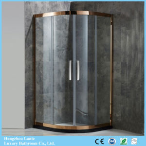 High End Design Sector Shape Stainless Steel Shower Enclosure In Gold Color