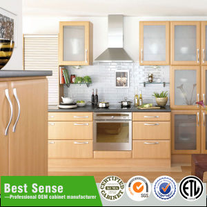 China Factory Cheap Price PVC Kitchen Cabinet with Wood Grain Door ...