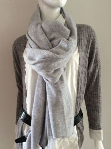 Lady Fashion Grey Cashmere Knitted Scarf (YKY4387-2) pictures & photos