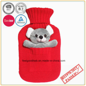 Hot Water Bottle with Pocket Animal Cover pictures & photos