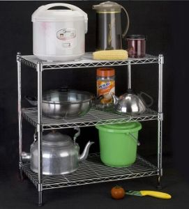 Household Chrome Garment Rack Lee Rowan Kitchen Storage Wire Shelving with  Stainless Steel