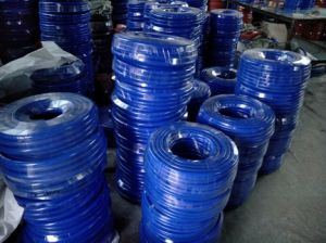 Blue Color Braided Silicone Hose, Braided Silicone Tube, Braided Silicone Pipe pictures & photos