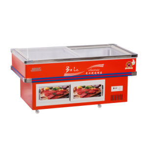 312L Refrigerated and Frozen Seafood Freezer for Supermarket