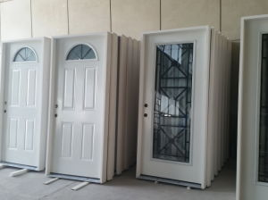 Prehung Steel Door in Wrought Iron Outdoor with Tempered Glass pictures & photos