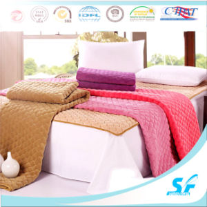 Plain Dyed Pattern and Microfiber Fill Thin Mattress Topper pictures & photos