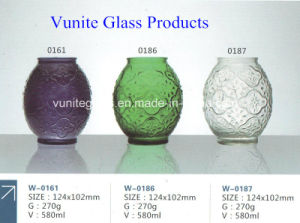 Home Decoration Painted Glass Candle Holder Candle Bottle Jar Glass Craft