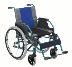 Detachable Armrest and Footrest Aluminum Wheelchair