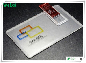 Transparent Card USB Flash Drive with OEM Logo (WY-C30) pictures & photos