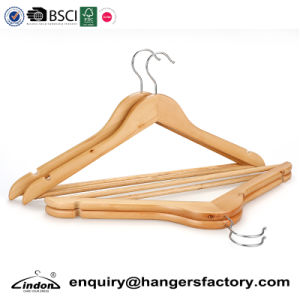 China Wardrobe Non Slip Bulk Cheap Wooden Clothes Hangers Wholesale