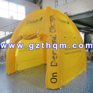 Yellow Outdoor Airtight Inflatable Tent Made of 0.9mm PVC Tarpaulin pictures & photos