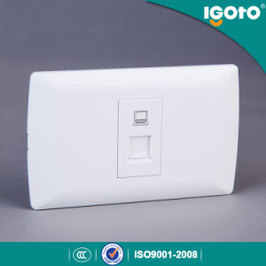Igoto American Standard Internet Date Power Wall Socket RJ45 for Network Connector pictures & photos