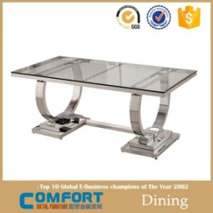 Stainless Steel Dining Table for Glass Top and Chair Sets