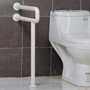 Wall Floor Mounted Anti Bacterial U Shaped Nylon Decorative Grab Bars For  Bathroom