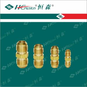 Double Tie-in/Connector/Nut/Refrigeration Fittings/Brass Connector pictures & photos