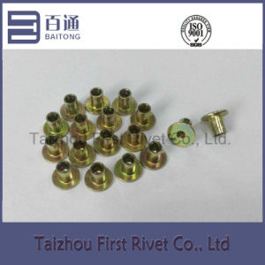 7-4 Yellow Zinc Plated Flat Head Fully Tubular Steel Rivet