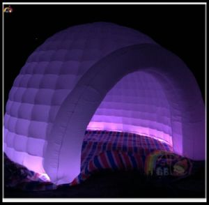 Portable Outdoor Inflatable Dome Tent with LED Light pictures & photos