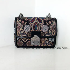 Trendy Mini Lady PU Embroidered Chain Leather Handbags (NMDK-032902)