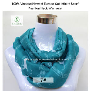 2017 Newest Europe Lady Fashion Infinity Scarf with Musice Note pictures & photos