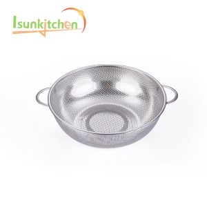 Professional Design Polished Stainless Steel Kitchen Fish Fry Fine Mesh Basket