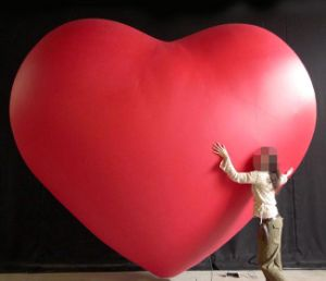 Gentil Giant Inflatable Heart Balloon For Advertising
