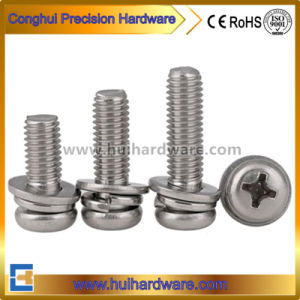 Stainless Steel Phillips Pan Head Combination Screw, Assembly Screw, Sem Screw pictures & photos