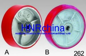 Red PU Heavy Duty Industrial Single Wheel pictures & photos