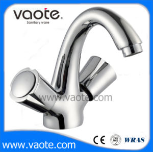 Double Handle Brass Body Basin Mixer (VT61403) pictures & photos