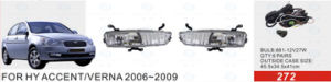 Front Fog Lamp for Hyundai Accent/Verna 2006-2009