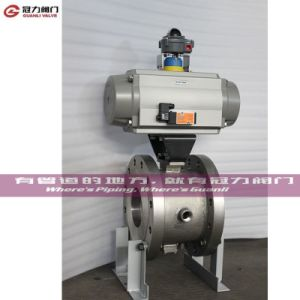 Wafer Flange Pn10 Pn16 Class 150/300 V Segment Ball Valve pictures & photos