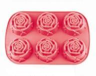 LFGB Customized Silicone Rose Cake Mould pictures & photos