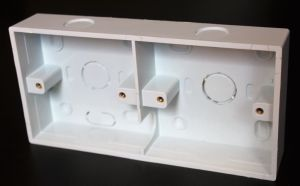 Beauty PVC Electrical Wall Mount Switch Box Electrical Wiring Trunking Solt Box Conduit Box pictures & photos
