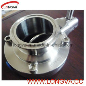 Stainless Steel Sanitary Tri Clamp Butterfly Valve with EPDM Gasket Pulling Handle pictures & photos