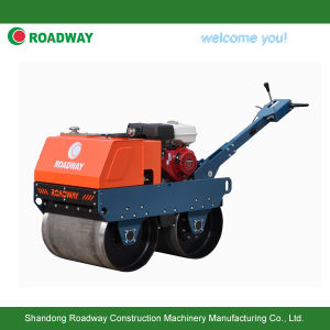 Walk Behind Double Drum Vibratory Roller pictures & photos