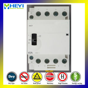 Household Normally Closed Contactor 4p 4nc 240V 50Hz 40A Electrical Machinical Type pictures & photos