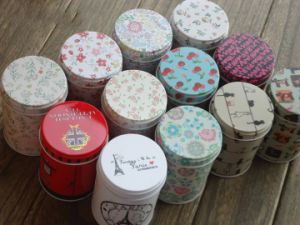 Round Tin Canister/Tea Canister (FV-112104) pictures & photos