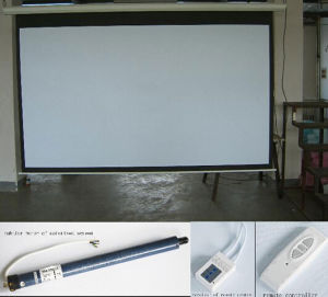 100 Inches Electric Projector Screen Motorized Projector Screen