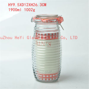 1900ml Glass Storage Container Food Glass Jar