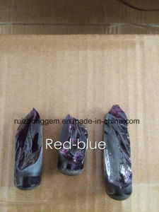 Double Color Corundum Material, Red Blue Corundum pictures & photos