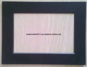 China Picture Frame Mat Black Core 1114 Size One Window Precut