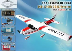 Cessna182 RC Airplane 2.4GHz 5CH RTF with 3G3X Technology (AP03-X1)
