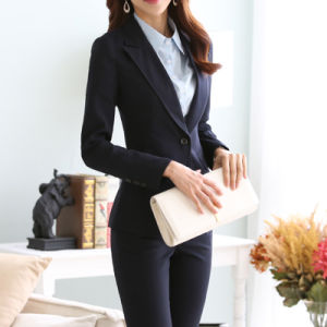 American Style Slim Fit Ladies Formal Blazer pictures & photos