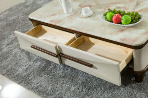 Wood Coffee Table / Modern Marble Coffee Table (1228) pictures & photos