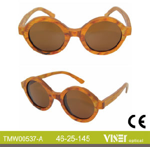 Fashion Wooden Sunglasees with High Quality (537-A) pictures & photos