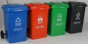 Plastic Trash Container 100L Multicolor pictures & photos