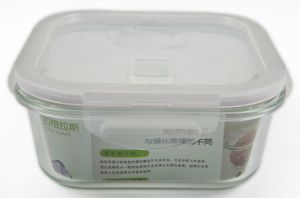 Borosilicte Glass Food Storage Containers with Silicone Seals and Locks pictures & photos
