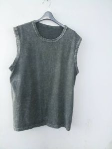 Men′s Fashion Washed Vest