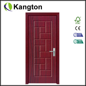 Superior Quality Wooden Design PVC Coated Door (PVC coated door) pictures & photos