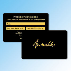 Pre-Printing Plastic Membership Card with Golden Foil/ Stamping